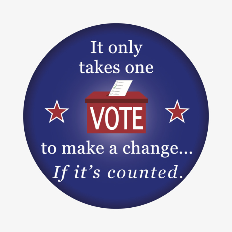 It only takes one vote to make a change...