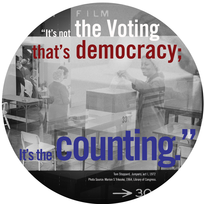 It's not the voting that is democracy; It's the counting