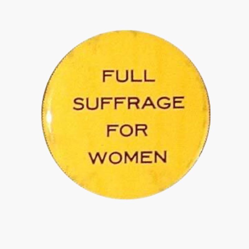 Historical Suffrage Button