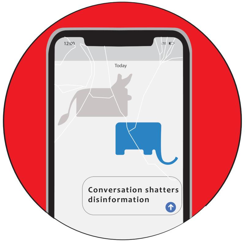 Conversation shatters disinformation